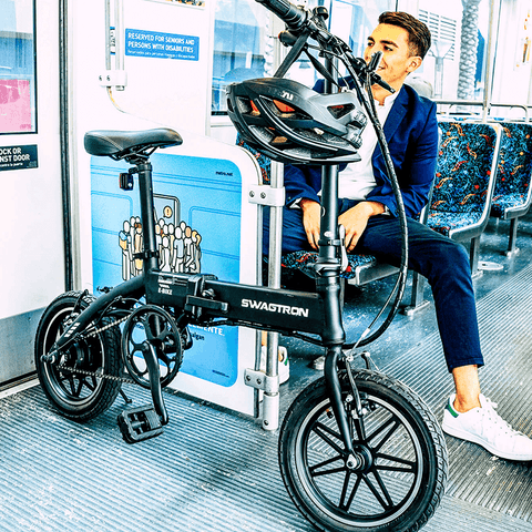 Image of Swagtron EB5 Pro Folding Electric Bike