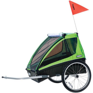 Thule Cadence Kids Bike Trailer green side view
