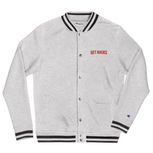 Load image into Gallery viewer, GET BUCKS Embroidered Champion Bomber Jacket