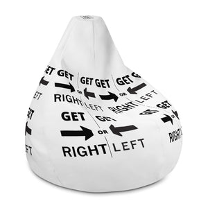 GET RIGHT or GET LEFT Bean Bag Chair w/ filling