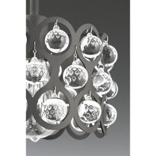 Load image into Gallery viewer, Vestique Collection 3-Light Graphite Semi-Flush Mount