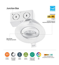 Load image into Gallery viewer, Globe Electric 3 in. 3000K White New Construction and Remodel Integrated LED Recessed Lighting Kit (4-Pack)