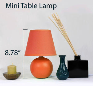Orange Mini Ceramic- Lamp