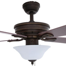 Load image into Gallery viewer, Wellston 44 in. LED Indoor Oil Rubbed Bronze Ceiling Fan with Light Kit