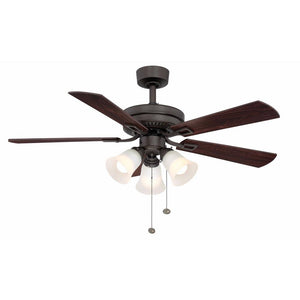 Sinclair 44 in. LED Indoor Oil-Rubbed Bronze Ceiling Fan with Light Kit