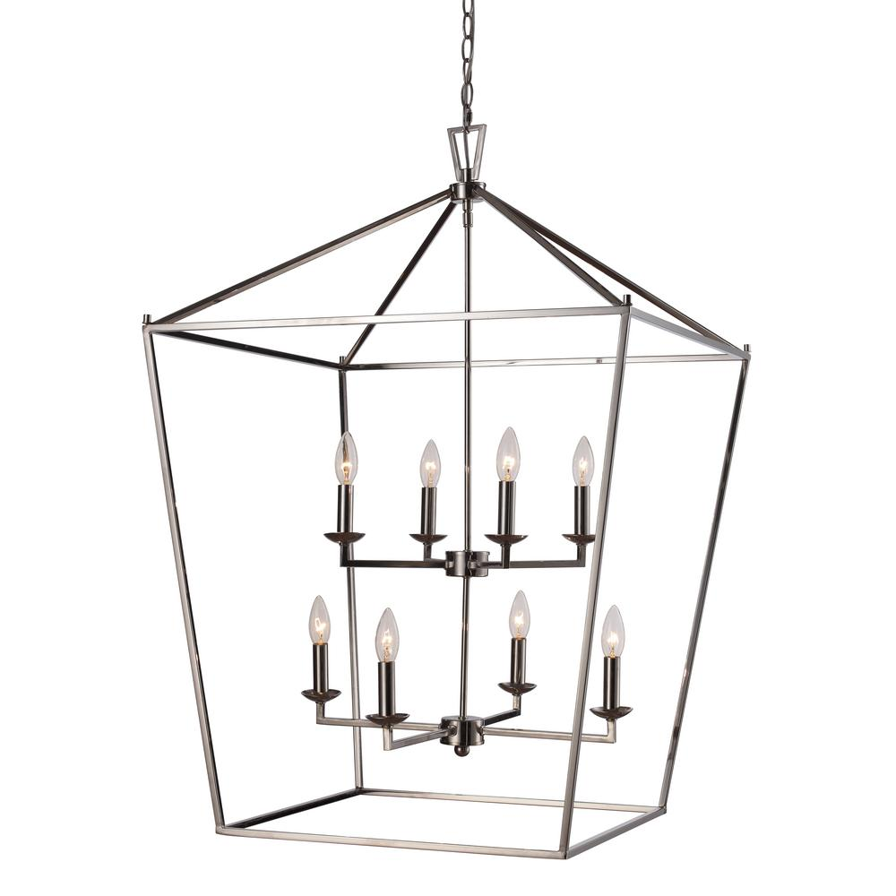 Lacey 8-Light Polished Chrome Pendant