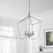 Load image into Gallery viewer, Weyburn 6-Light Polished Chrome Caged Chandelier