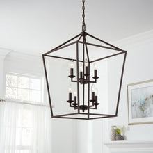 Load image into Gallery viewer, Weyburn 8-Light Bronze Caged Chandelier