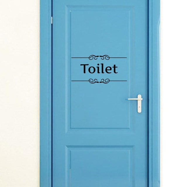 Toilet & Bathroom Sign Wall Sticker