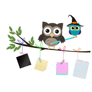 The Wizard Owl Wall Sticker