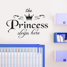 Princess Sleeps Here Wall Sticker