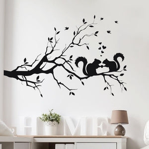 Tree Squirrels Wall Sticker