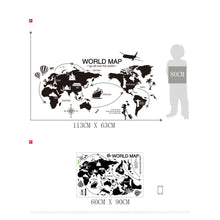 Classic Black & White Map Wall Sticker