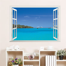 Maldives 3D Window View Wall Sticker
