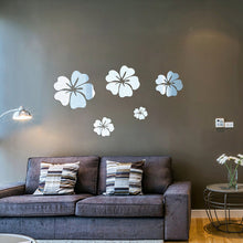 Round Flowers Mirror Wall Sticker
