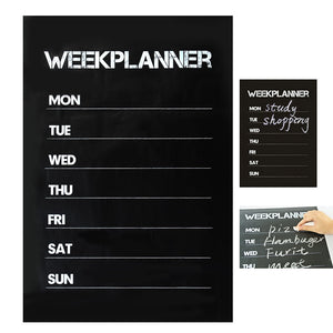 Week Planner Blackboard Wall Sticker