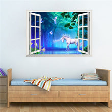 Magical Pony Fake 3D Window View Wall Sticker