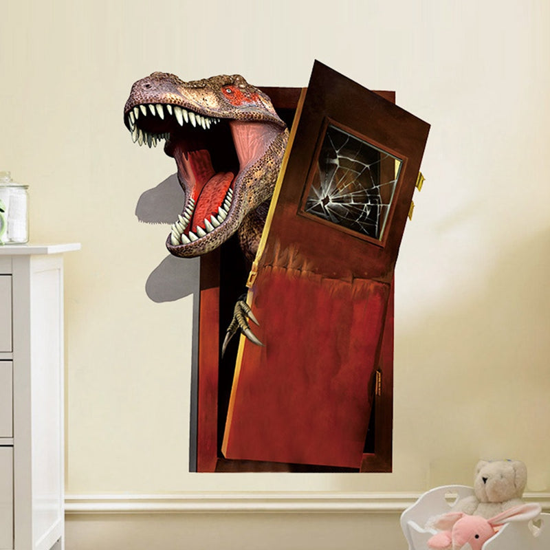 3D Breaking Into Dinosaur Wall Sticker
