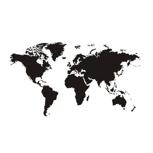 Simple World Map Wall Sticker