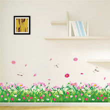 Flowery Nature Grass Wall Sticker