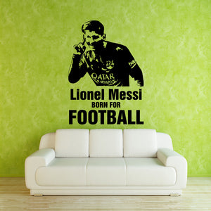 """Born for Football"" Lionel Messi Wall Sticker"