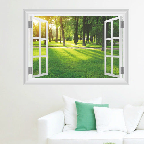 Forest Fake Window View Wall Sticker