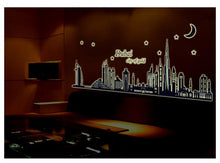 Luminous Dubai Skyline Wall Sticker