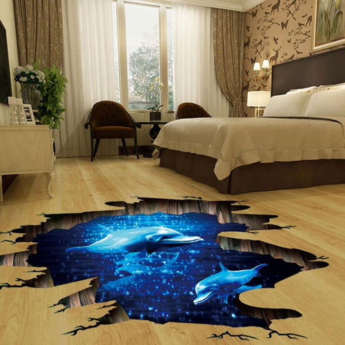 Dolphinarium 3D Floor Sticker