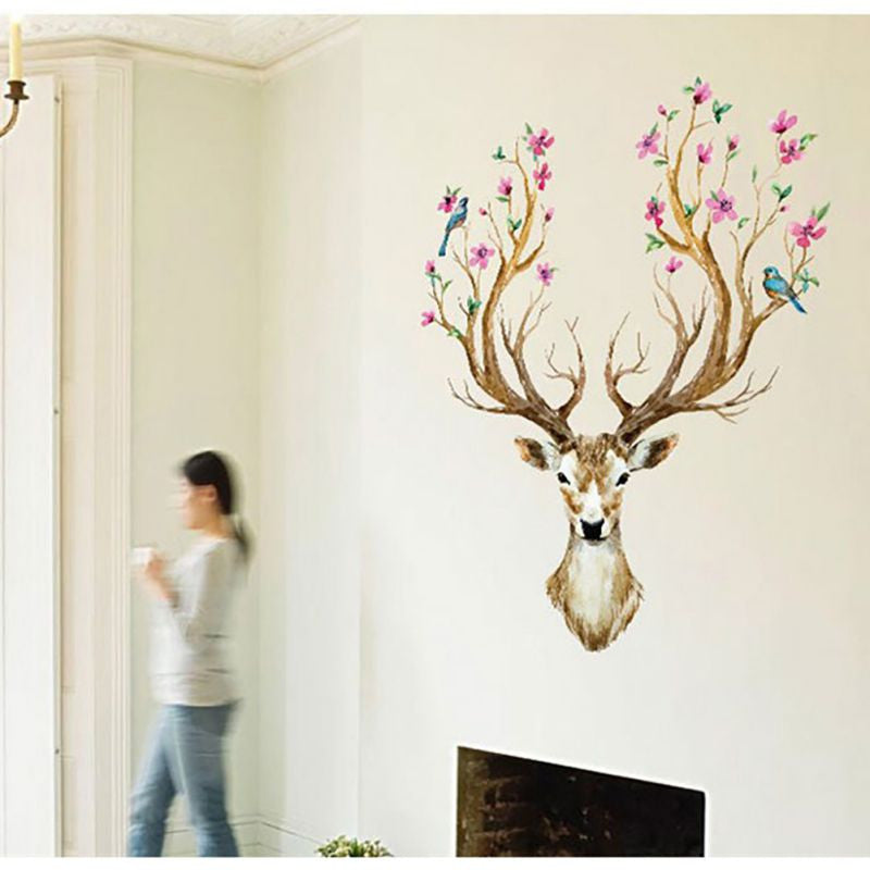 Deer Head Wall Sticker