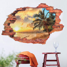 3D Broken Wall Beach View