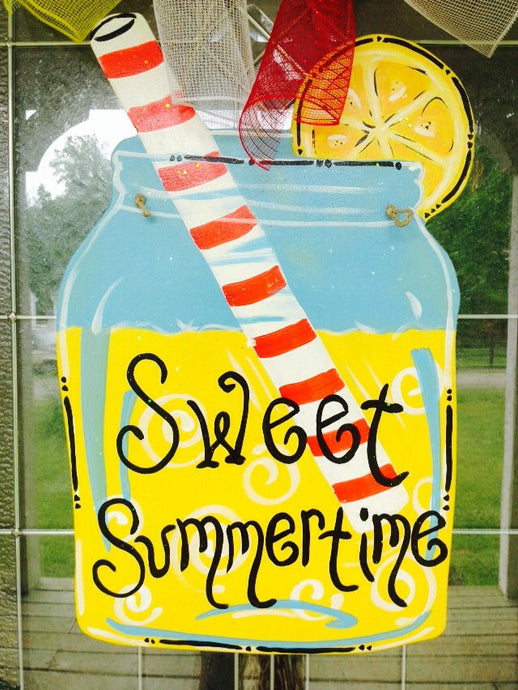 Lemonade Mason Jar Door Hanger