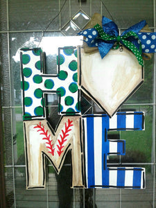 Home Plate | Baseball Wreath | Door Hanger | Baseball Door Hanger | Baseball Bat | Baseball Season