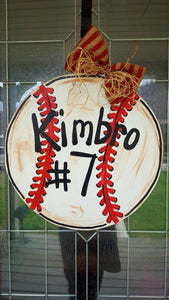 Baseball Door Hanger, Sports Door Hanger