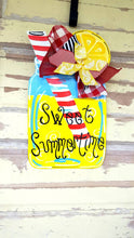 Load image into Gallery viewer, Lemonade Mason Jar Door Hanger|Summer Wreath|Summer Wreath|Lemonade sign