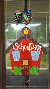 Back tp School | Teacher gift | Classroom Decor |School House Door Hanger Wreath Back to School Teacher Sign