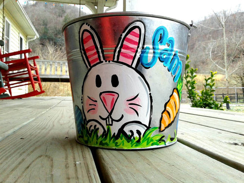 5 qt Easter Bunny Basket Easter Basket for Girl For Boy Gifts