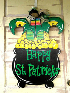 St Patrick's Day Wreath, Saint Patrick's day Wreath, Wood Wreath, Hand Painted Wreath, Wood sign