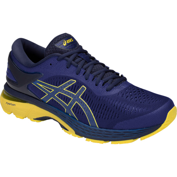 ASICS MENS KAYANO 25 ASICS BLUE/LEMON SPARK
