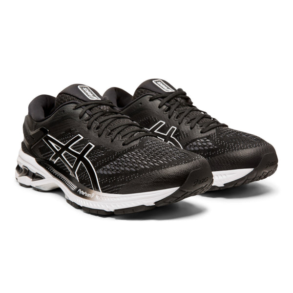 ASICS MENS KAYANO 26 BLACK/WHITE