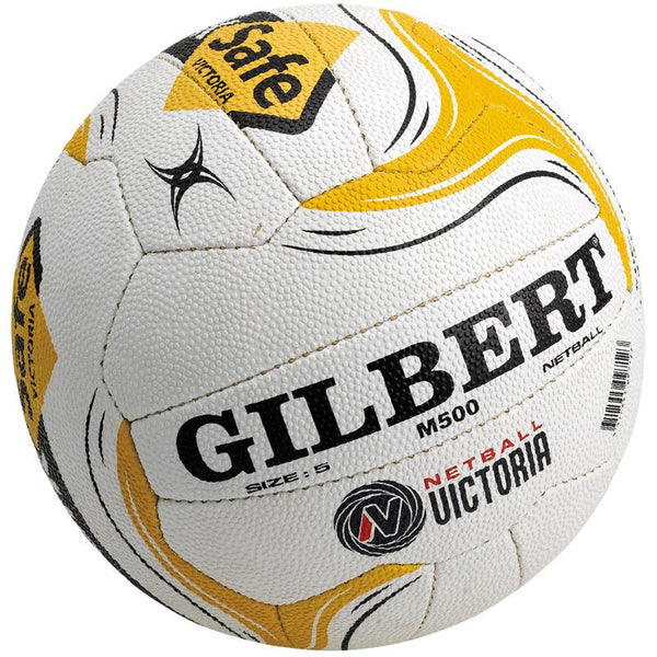 GILBERT VIC WORKSAFE M500 NETBALL WHITE
