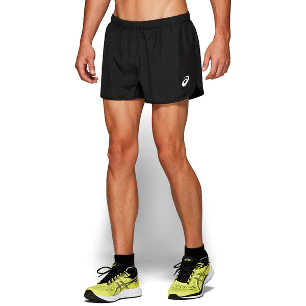 ASICS MENS SILVER SPLIT SHORT BLACK