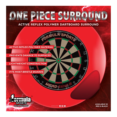 FORMULA SPORTS ONE PIECE DARTBOARD SURROUND