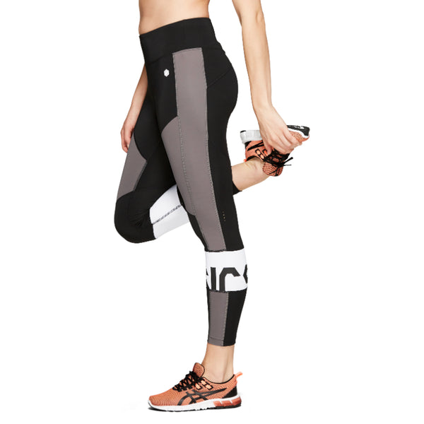 ASICS WOMENS COLOUR BLOCK CROPPED TIGHT 2 PERFORMANCE
