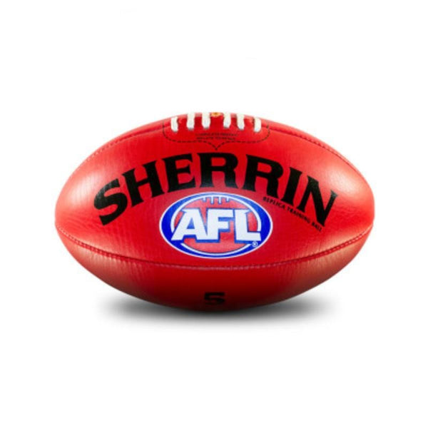 SHERRIN AFL REPLICA TRAINING BALL RED