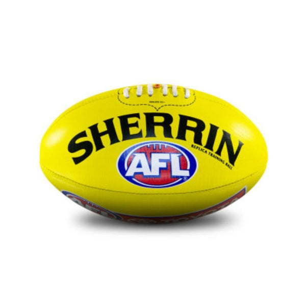 SHERRIN AFL REPLICA TRAINING BALL YELLOW