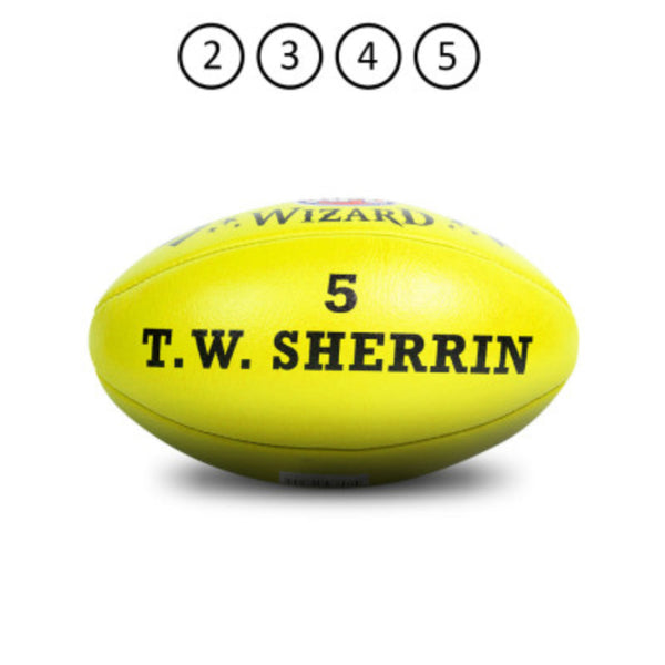 SHERRIN WIZARD LEATHER FOOTBALL