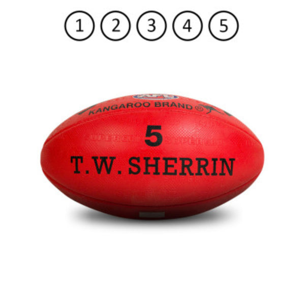SHERRIN KB SYNTHETIC FOOTBALL RED