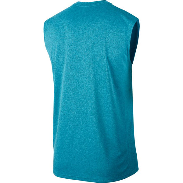 NIKE MENS DRY SLEEVELESS TRAINING TOP GREEN ABYSS/LIGHT BLUE FURY/BLACK