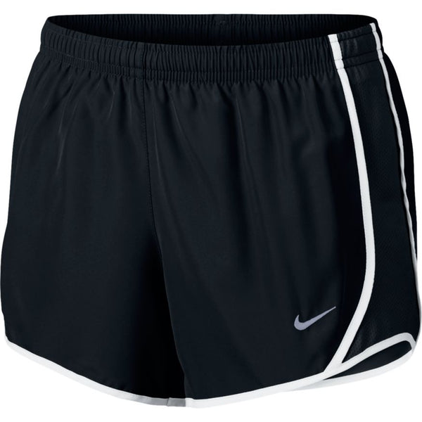 NIKE GIRLS DRY TEMPO RUNNING SHORT BLACK/BLACK/WHITE/WHITE