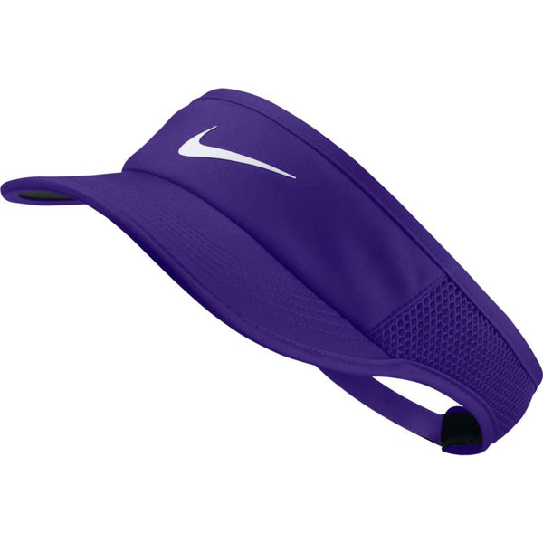NIKE WOMENS COURT AEROBILL FEATHERLIGHT VISOR PSYCHIC PURPLE/WHITE
